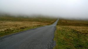 a deserted road